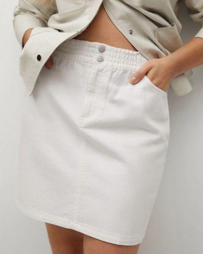 Белая джинсовая юбка Violeta By Mango