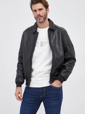 Кожаная куртка короткая Pepe Jeans