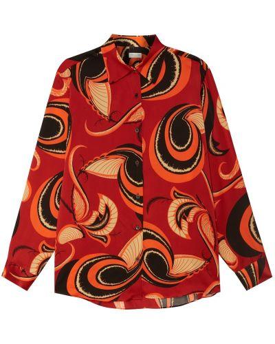 Блузка с длинным рукавом прямая шелковая Dries Van Noten