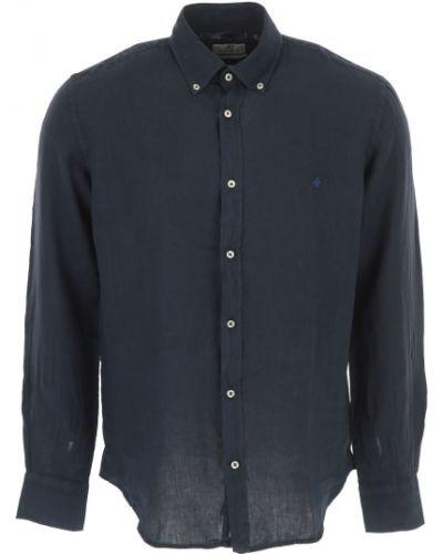 Niebieska koszula slim z długimi rękawami Brooksfield