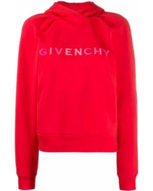 Bluza z kapturem z haftem z kapturem Givenchy