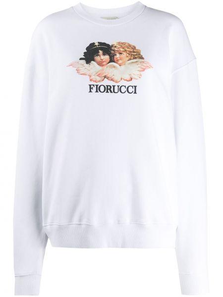 Biała bluza z długimi rękawami bawełniana Fiorucci