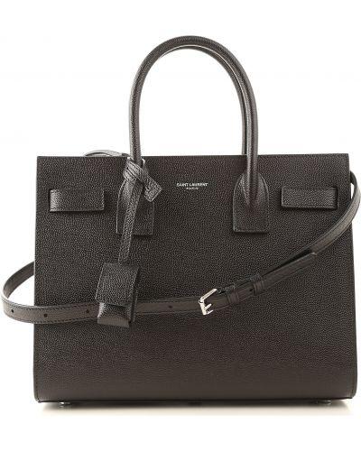 Czarna torebka skórzana Yves Saint Laurent