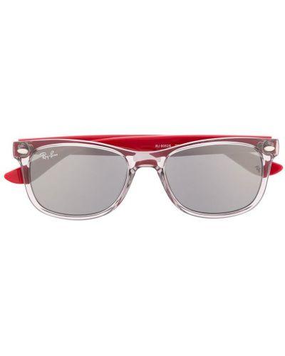 Красные солнцезащитные очки квадратные Ray Ban Junior
