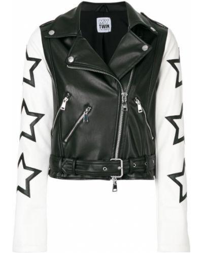 Длинная куртка байкерская Twin-set