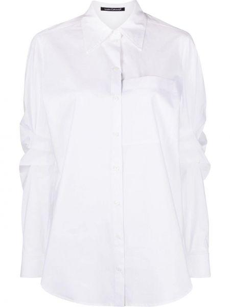 Хлопковая белая классическая рубашка с длинными рукавами Luisa Cerano