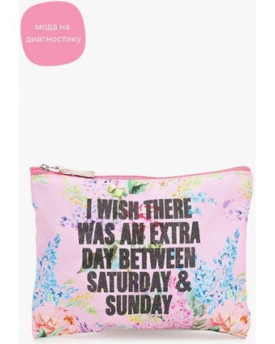Текстильная розовая косметичка Koton