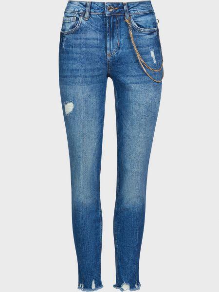 Хлопковые синие джинсы на молнии Liu Jo