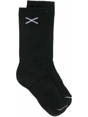 Кашемировые черные носки в рубчик Barrie