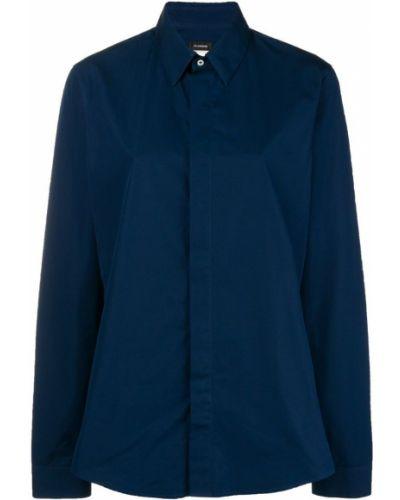 Синяя классическая рубашка винтажная на пуговицах Jil Sander Pre-owned