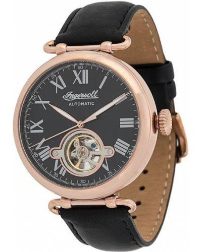 Zegarek na skórzanym pasku skórzany - czarny Ingersoll Watches