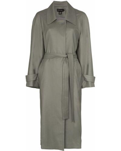 Шерстяное пальто классическое с воротником с поясом Low Classic