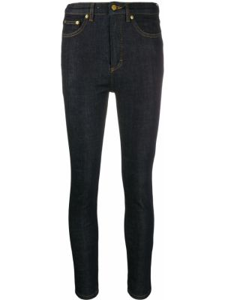 Укороченные джинсы скинни на пуговицах Victoria, Victoria Beckham