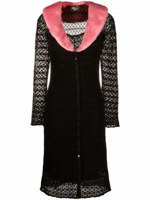 Платье миди с длинными рукавами - черное Blumarine