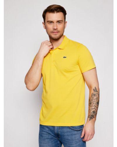 Żółte polo Lacoste
