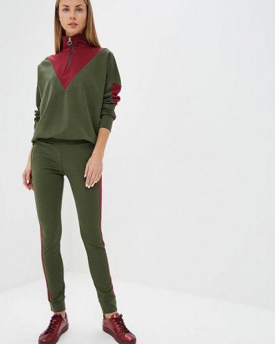 Брючный костюм зеленый хаки Ribbon