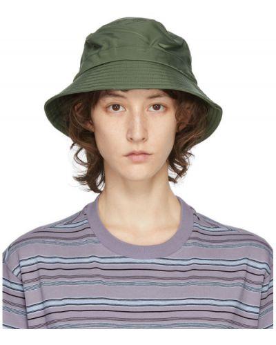 Зеленая трикотажная шапка с подкладкой Ymc