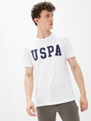 Белая весенняя футболка U.s. Polo Assn.