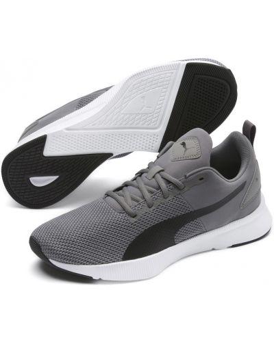 Черные кроссовки беговые сетчатые для бега на шнуровке Puma