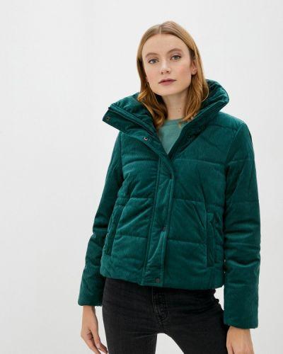Теплая зеленая утепленная куртка Defacto