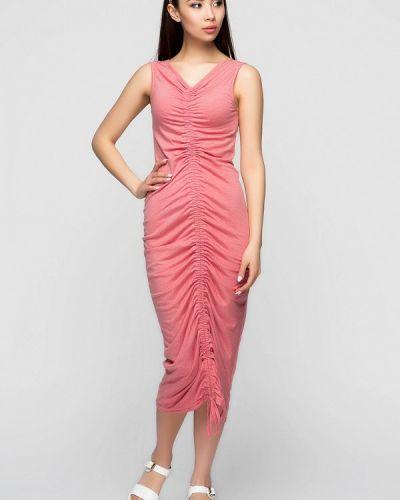 Повседневное платье весеннее розовое A-dress
