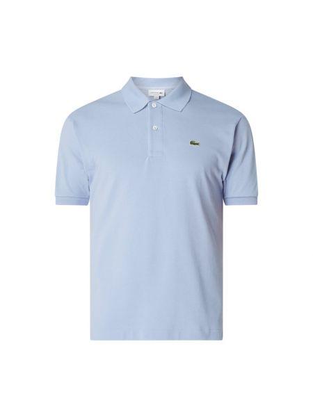 T-shirt bawełniana - fioletowa Lacoste