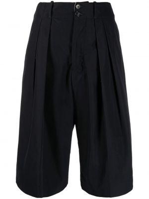 Черные с завышенной талией шорты с карманами Plan C