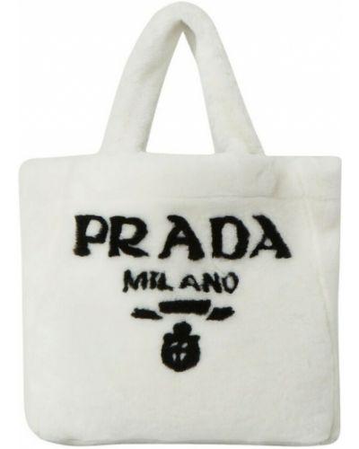 Biała torebka Prada