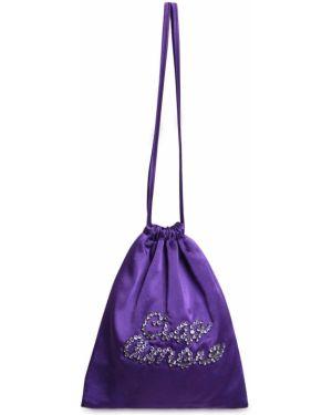Satynowa fioletowa torebka Giada Benincasa