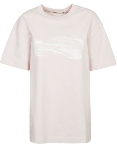 Różowa t-shirt Alexander Wang