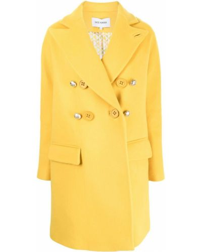 Желтое длинное пальто Dice Kayek
