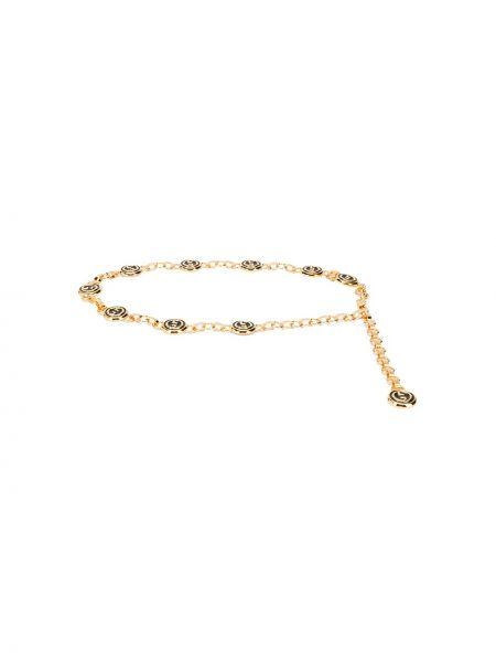 Pasek metal złoto z paskiem Gucci