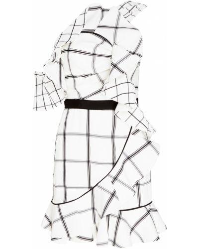 Платье мини коктейльное в клетку Self-portrait