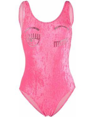 Купальник розовый бархатный Chiara Ferragni