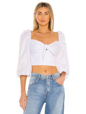 Белая блузка из поплина Bardot