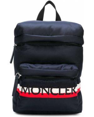 Рюкзак темно-синий с логотипом Moncler Kids