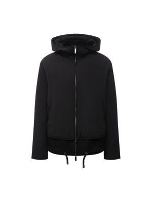 Кашемировая куртка - черная Emporio Armani