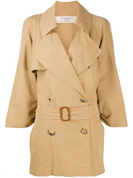 Długi płaszcz z kieszeniami beżowy Lanvin Pre-owned