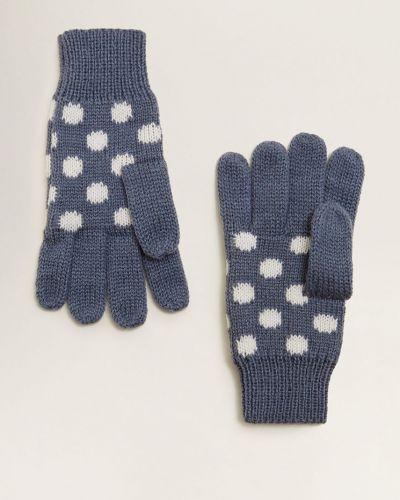 Синие перчатки трикотажные Mango Kids