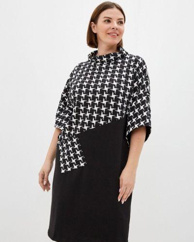 Черное платье осеннее Malena