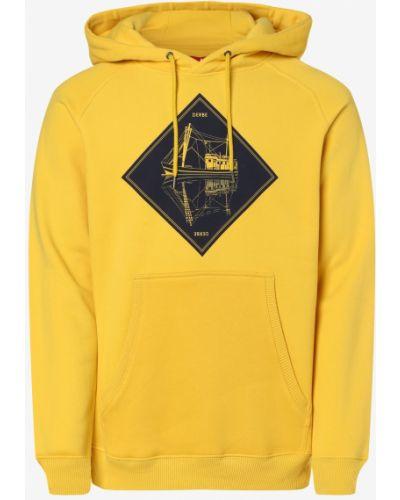 Żółta bluza z kapturem Derbe
