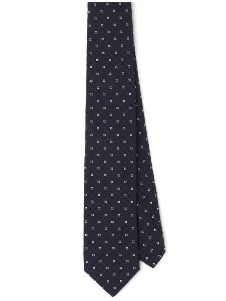 Niebieski jedwab krawat Prada