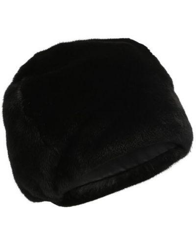 Черная шапка норковая Furland