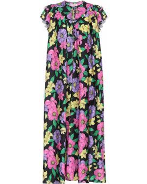 Платье миди винтажная с цветочным принтом Balenciaga