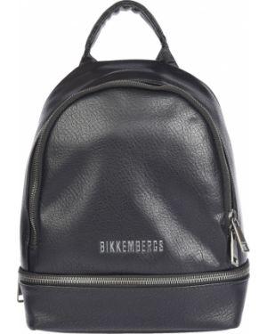 Кожаный рюкзак - черный Bikkembergs