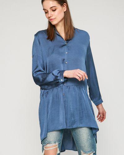 Синяя блузка оверсайз Answear