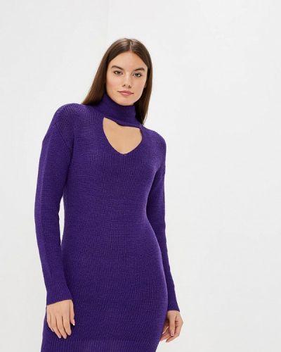 Платье осеннее фиолетовый Modis