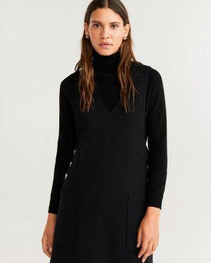 Платье вязаное черное Mango