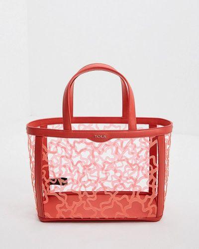 Кожаный сумка шоппер Tous
