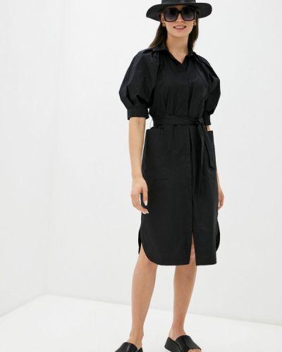 Черное платье-рубашка Imperial